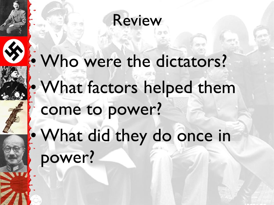 What factors helped them come to power