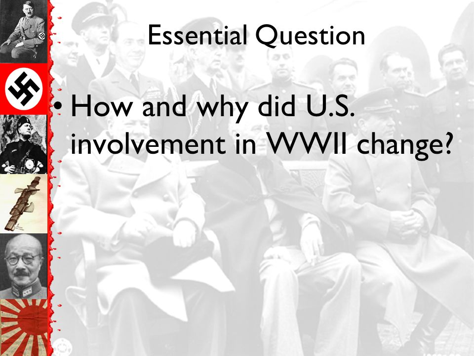 How and why did U.S. involvement in WWII change