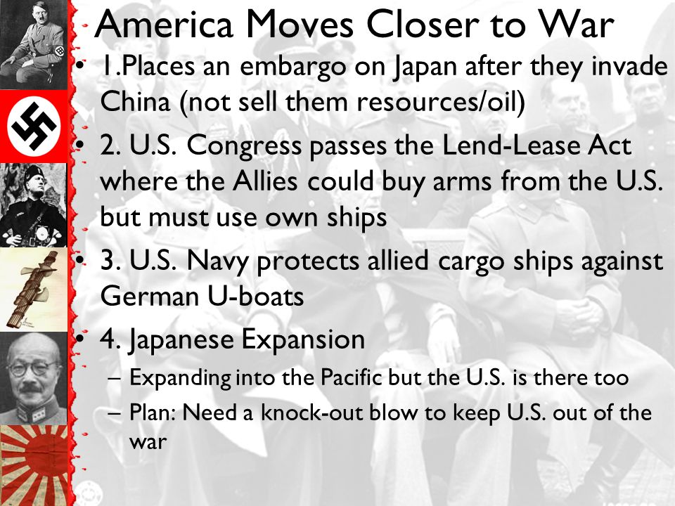 America Moves Closer to War