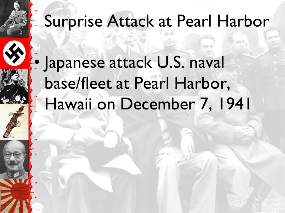 Surprise Attack at Pearl Harbor