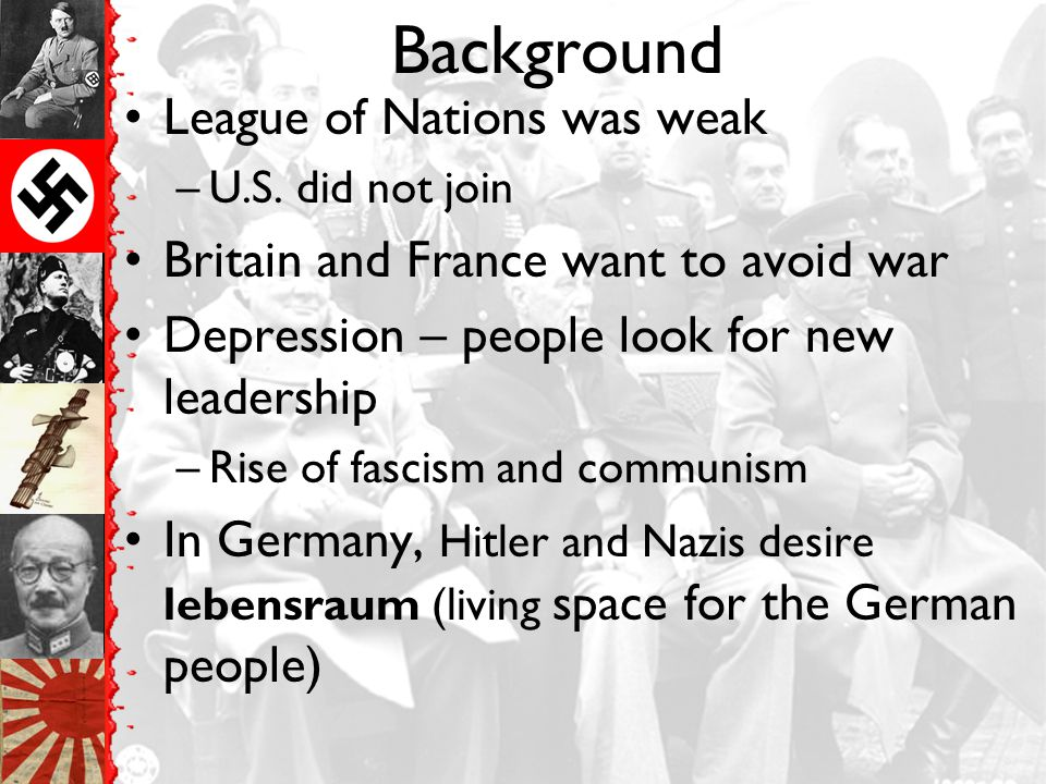 Background League of Nations was weak