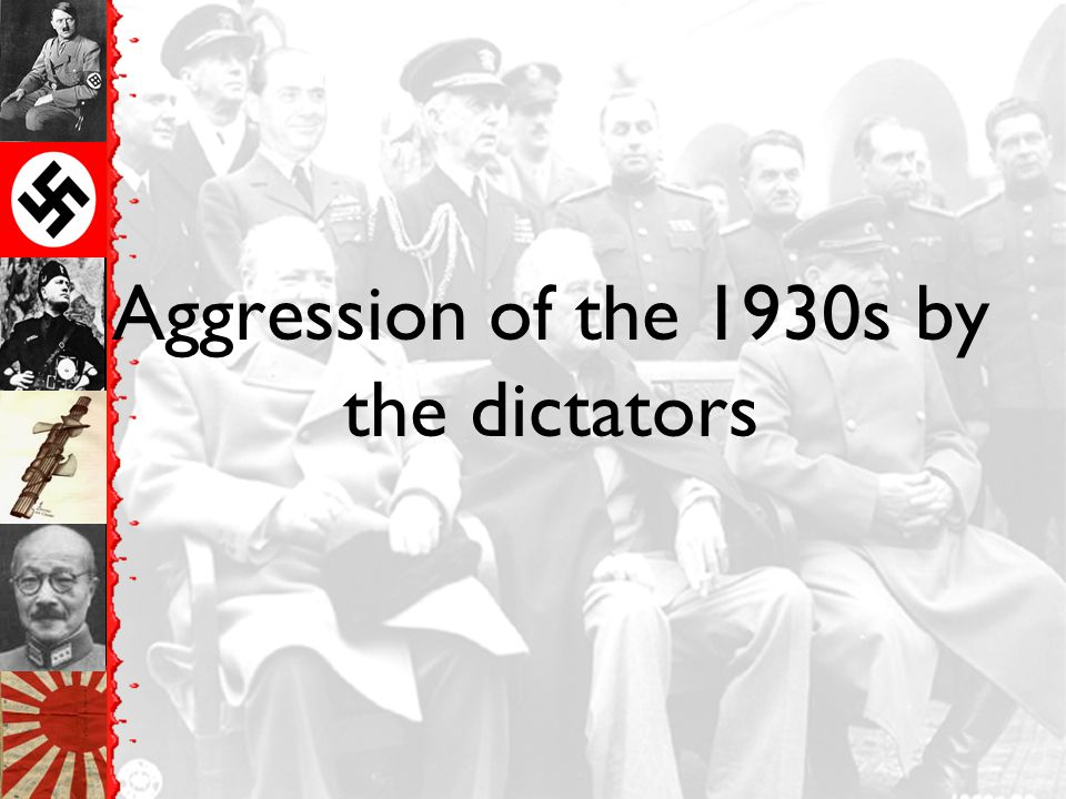 Aggression of the 1930s by the dictators
