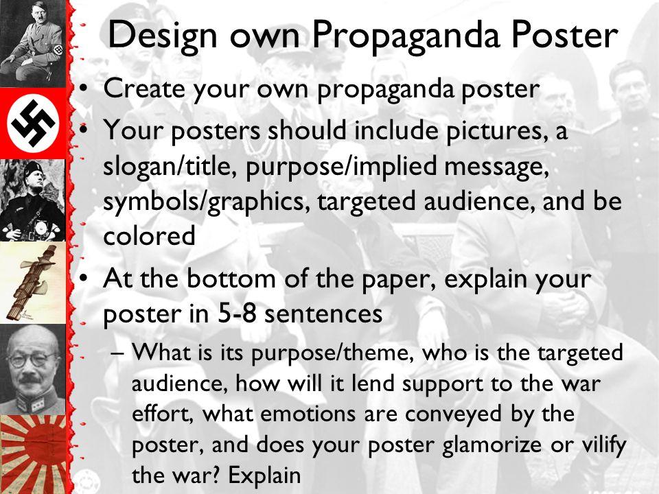 Design own Propaganda Poster