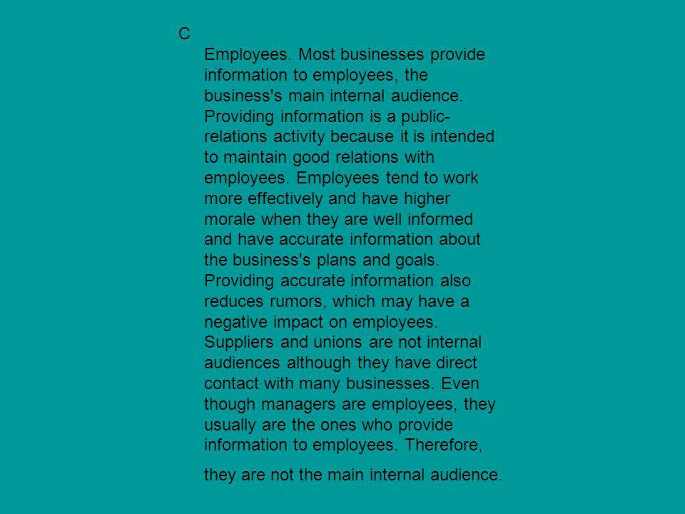C Employees.