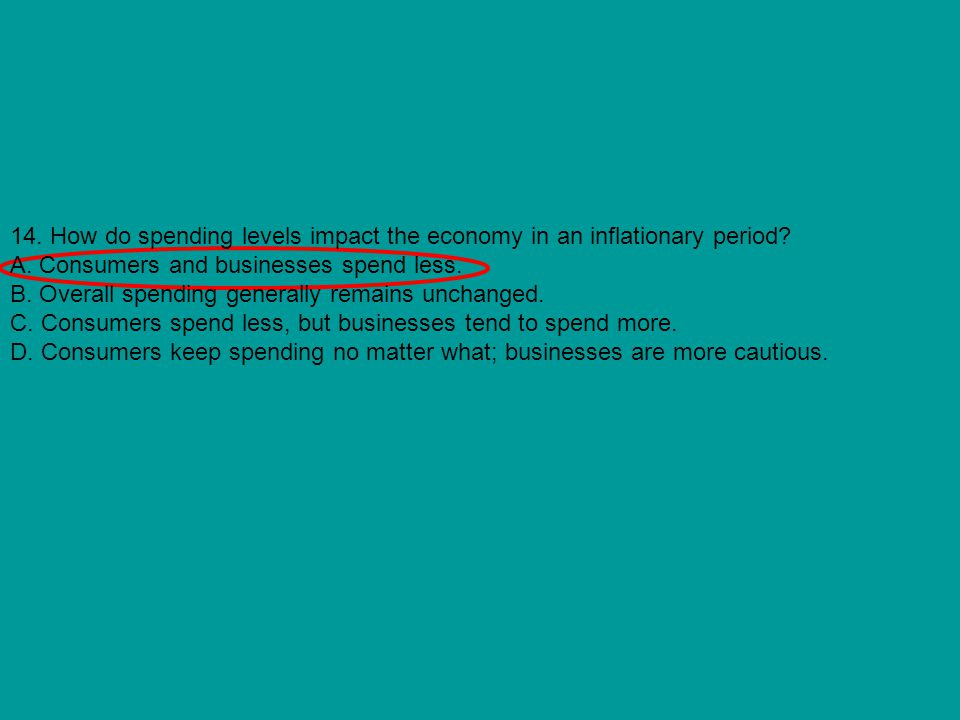 14. How do spending levels impact the economy in an inflationary period