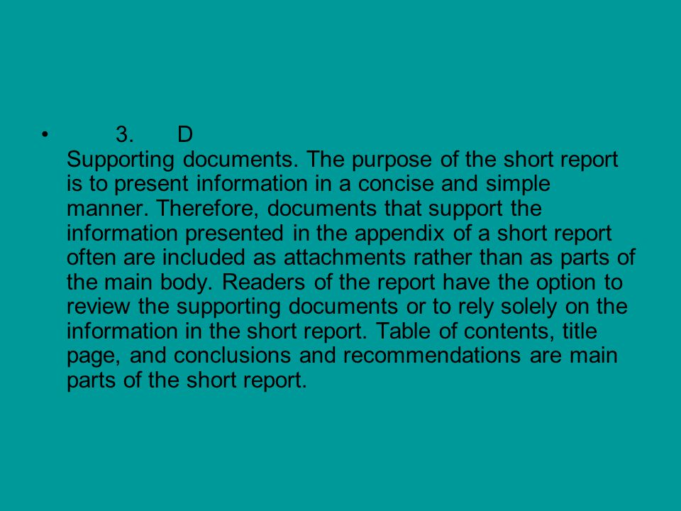 3. D Supporting documents