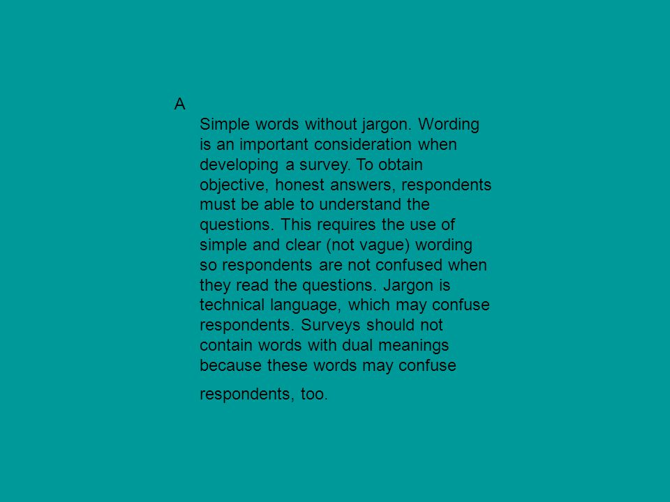 A Simple words without jargon