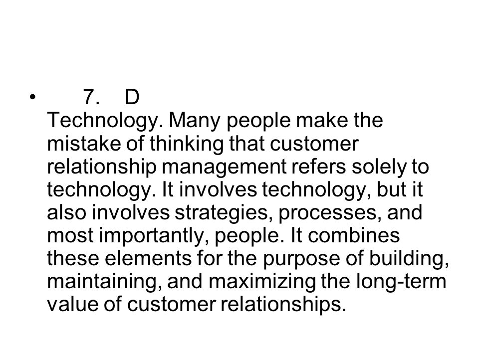 7. D Technology.