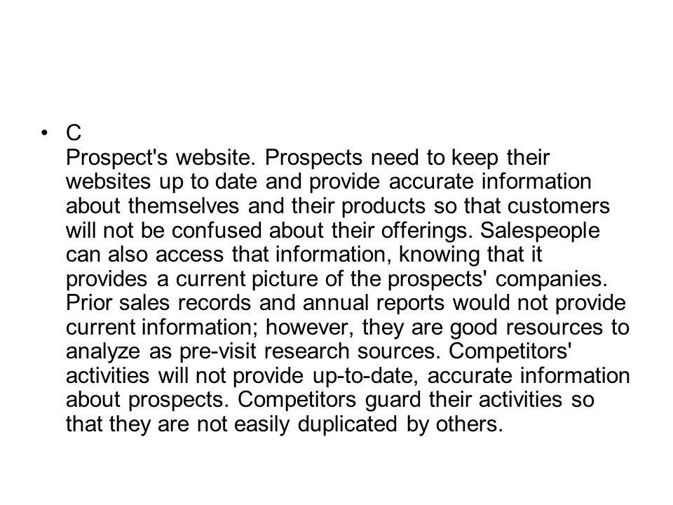 C Prospect s website.