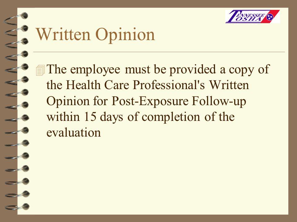 Written Opinion