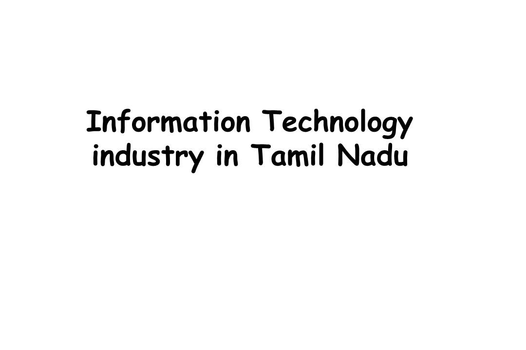 Information Technology industry in Tamil Nadu