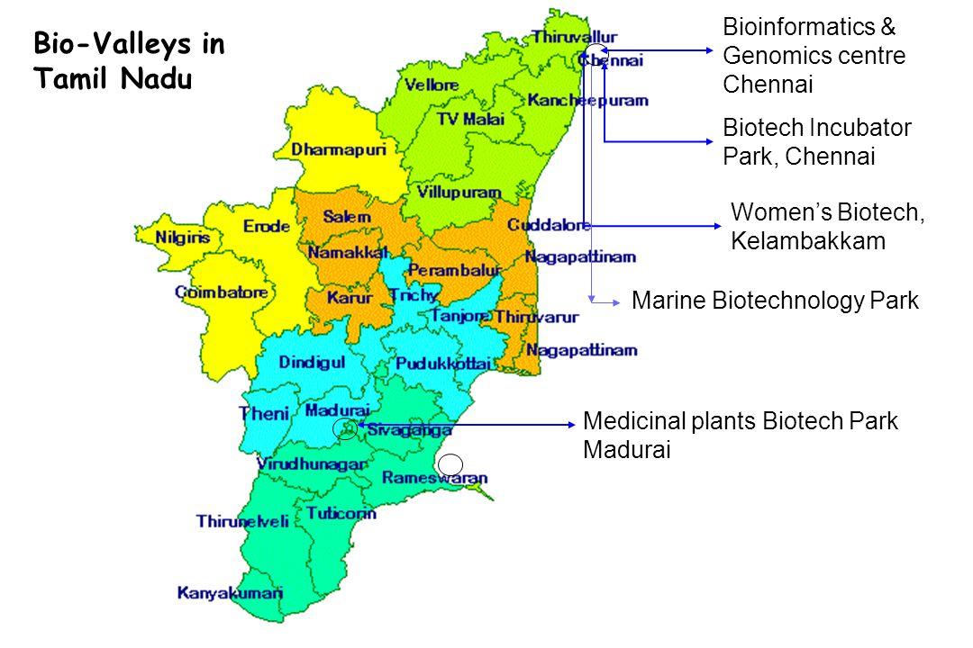 Bio-Valleys in Tamil Nadu Bioinformatics & Genomics centre Chennai