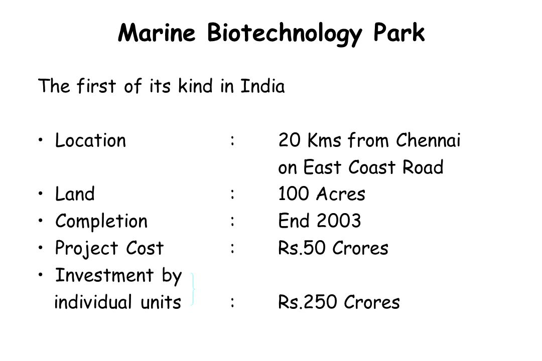 Marine Biotechnology Park