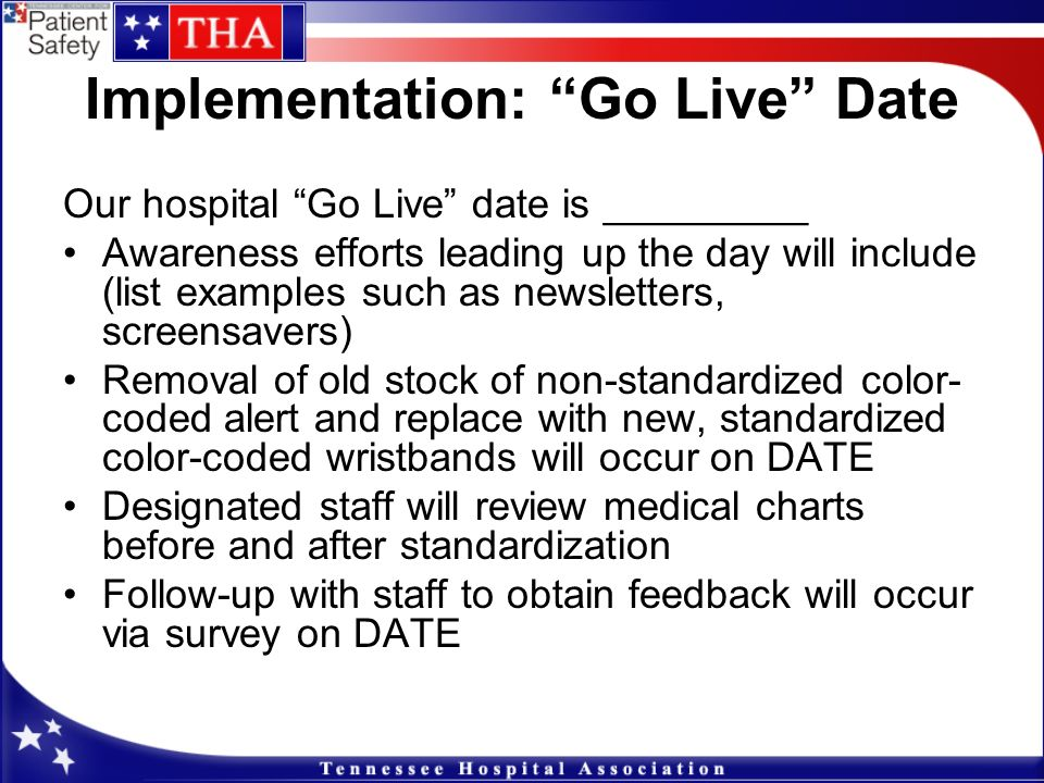 Implementation: Go Live Date