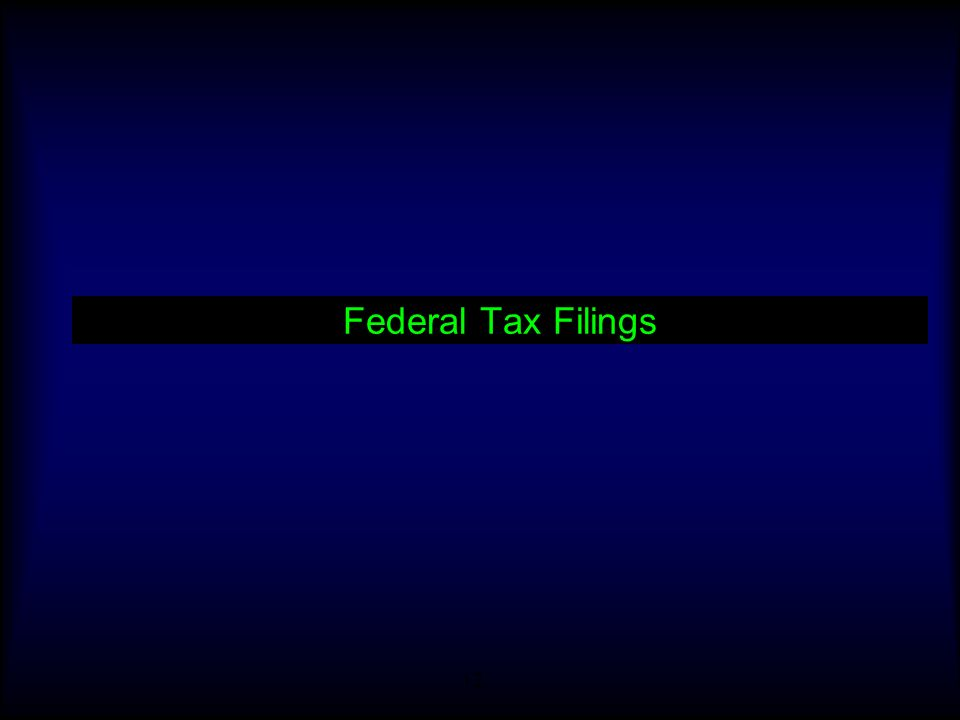 Federal Tax Filings
