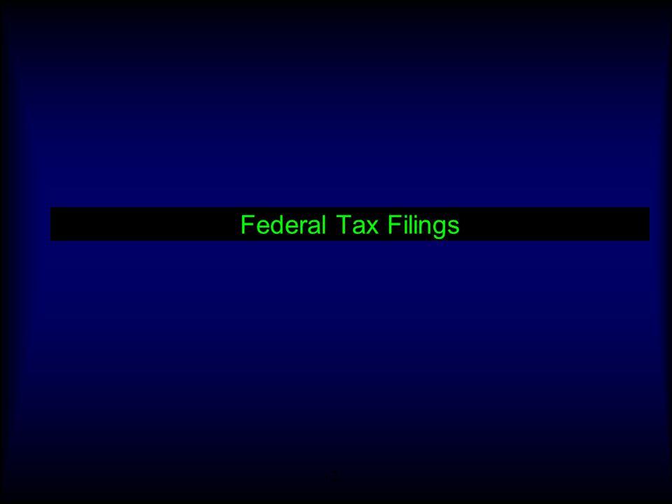 Federal Tax Filings