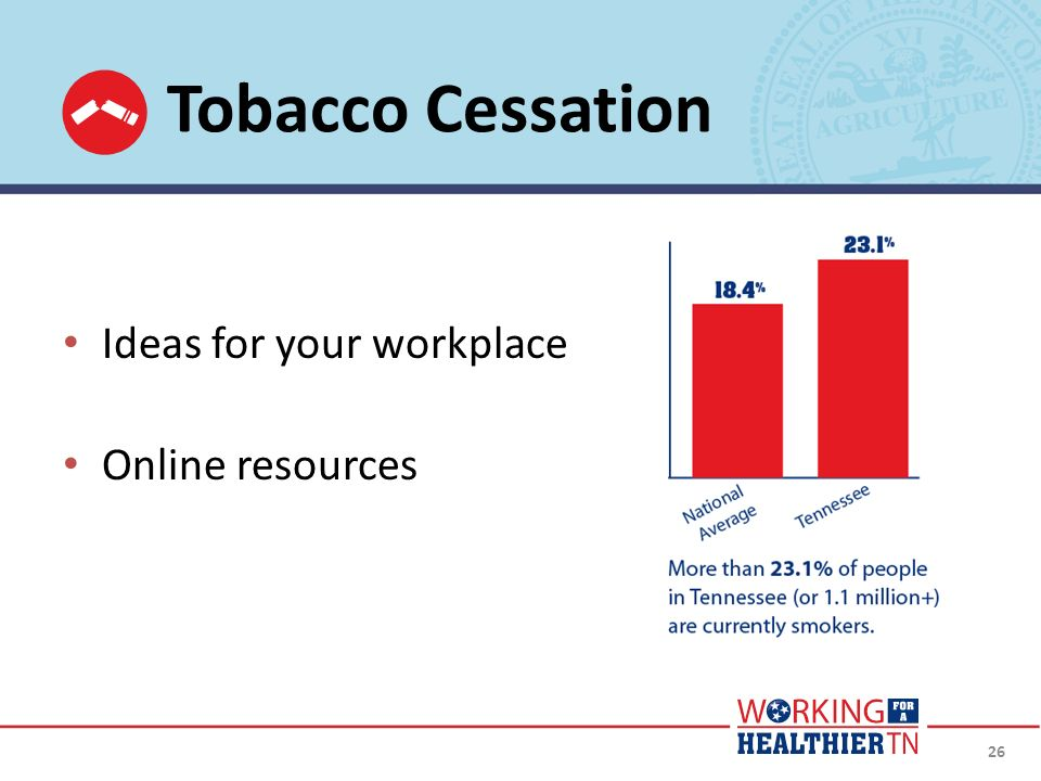 Tobacco Cessation Ideas for your workplace Online resources
