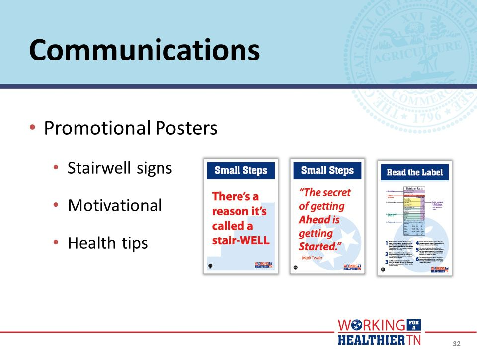 Communications Promotional Posters Stairwell signs Motivational