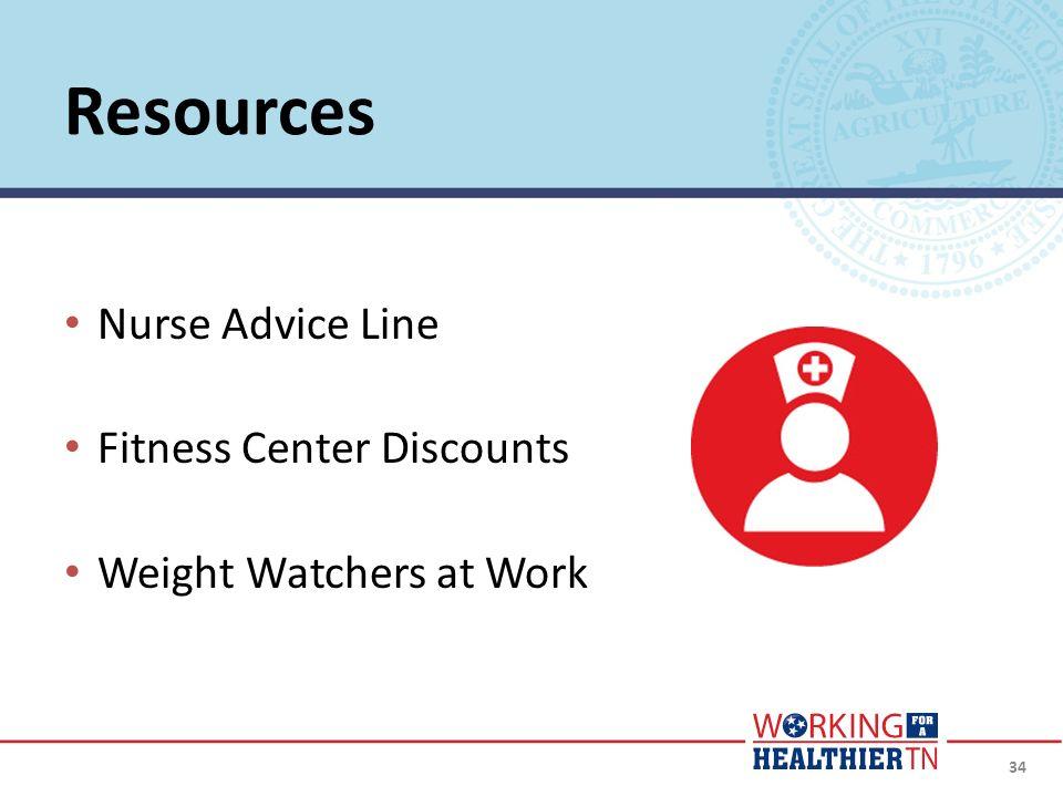 Resources Nurse Advice Line Fitness Center Discounts