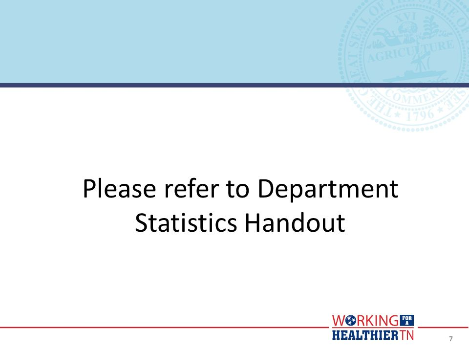 Please refer to Department Statistics Handout