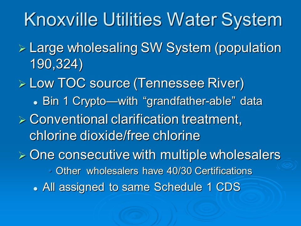 Knoxville Utilities Water System