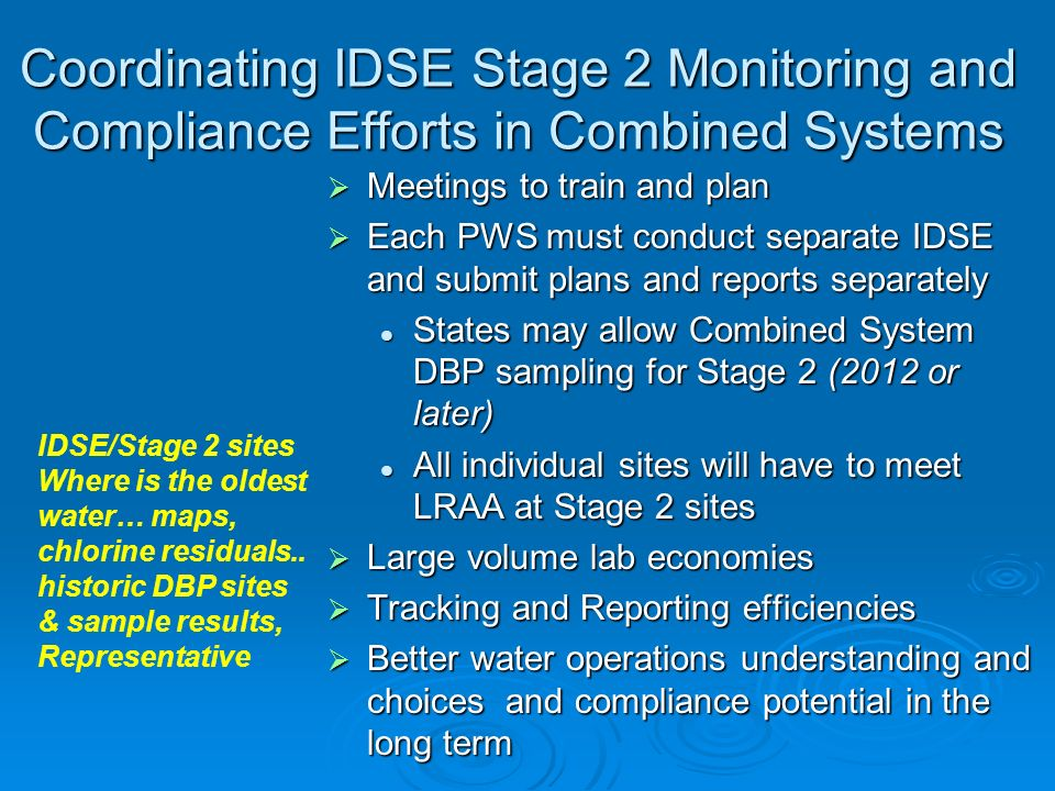 Coordinating IDSE Stage 2 Monitoring and Compliance Efforts in Combined Systems