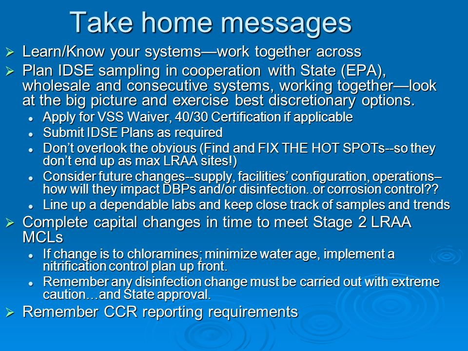 Take home messages Learn/Know your systems—work together across