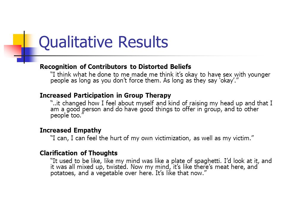 Qualitative Results Recognition of Contributors to Distorted Beliefs