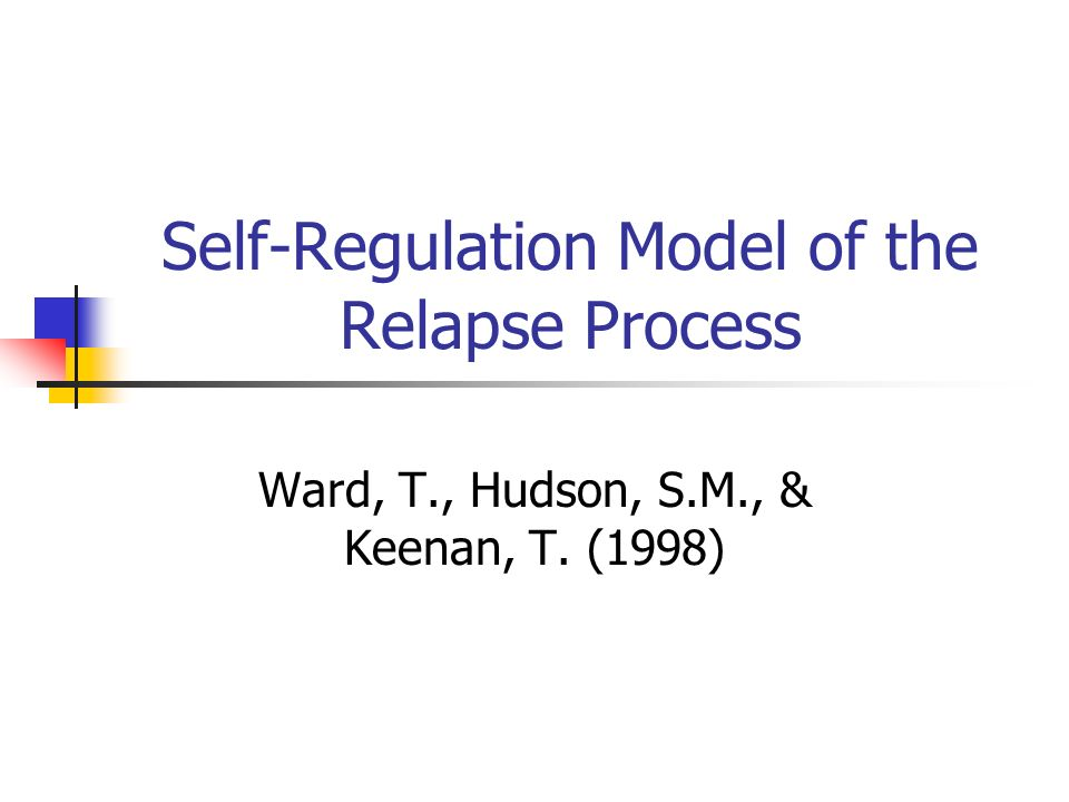 Self-Regulation Model of the Relapse Process