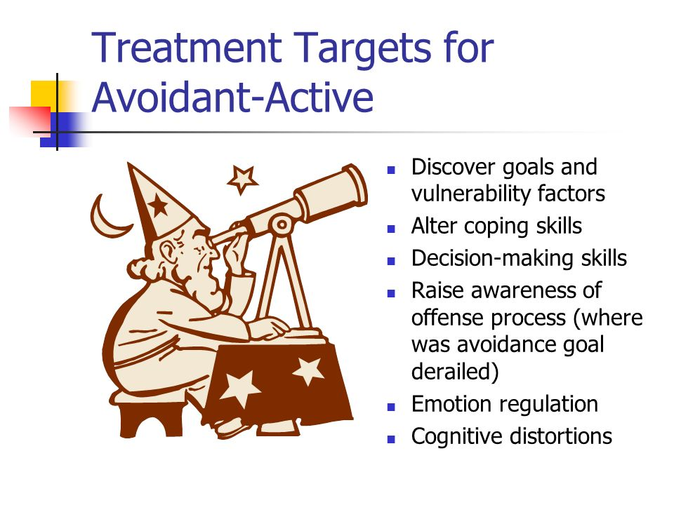 Treatment Targets for Avoidant-Active