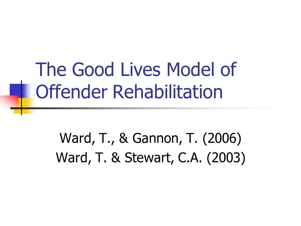The Good Lives Model of Offender Rehabilitation