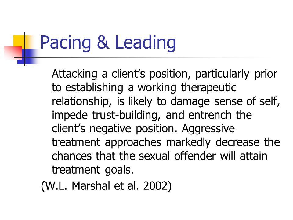 Pacing & Leading