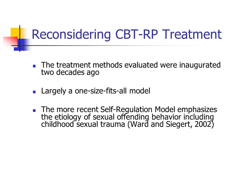 Reconsidering CBT-RP Treatment