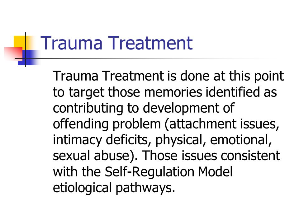 Trauma Treatment