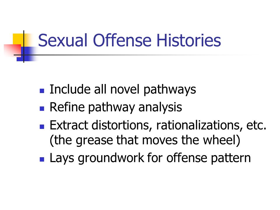 Sexual Offense Histories