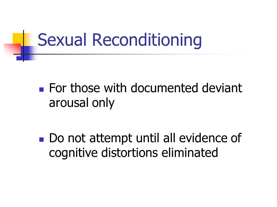 Sexual Reconditioning