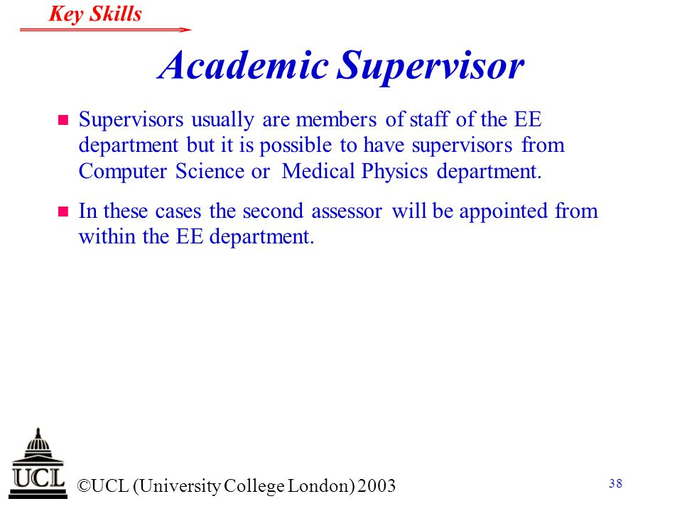Academic Supervisor