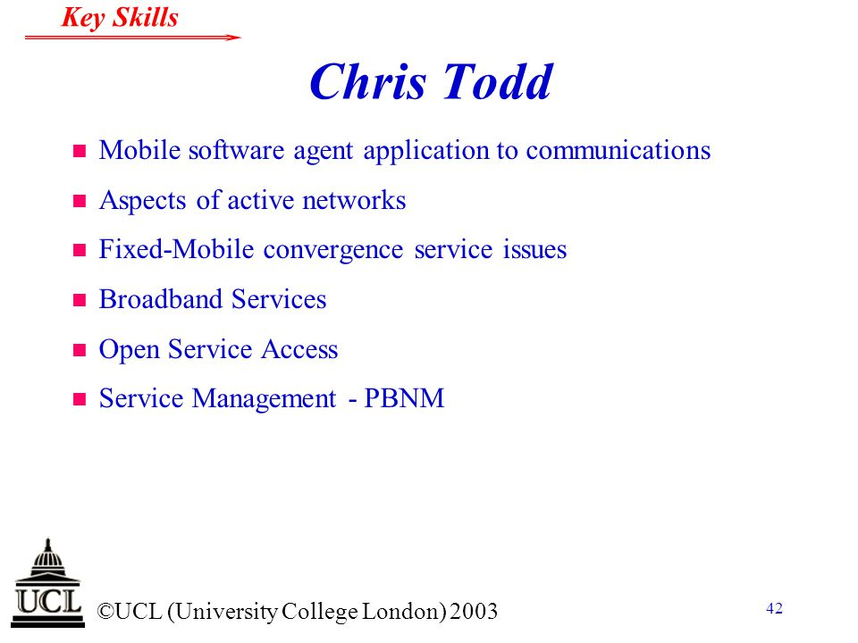 Chris Todd Mobile software agent application to communications