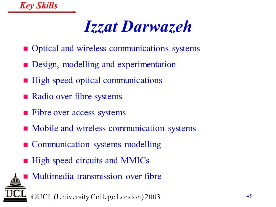 Izzat Darwazeh Optical and wireless communications systems