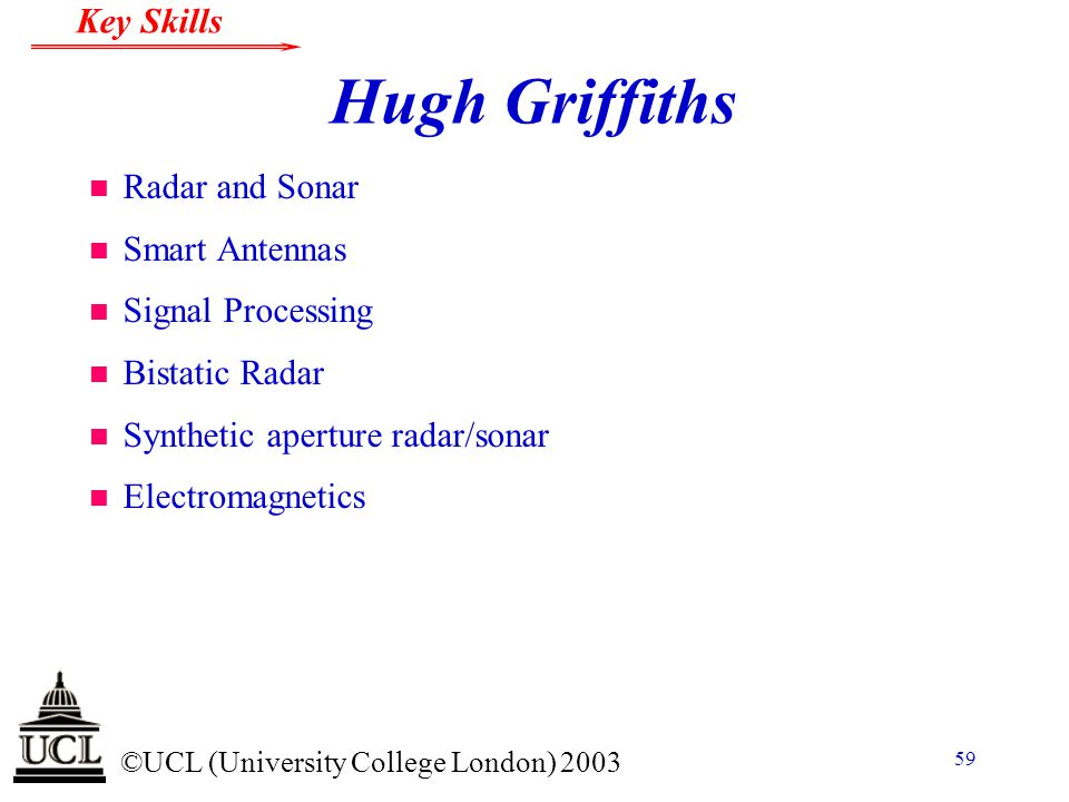 Hugh Griffiths Radar and Sonar Smart Antennas Signal Processing