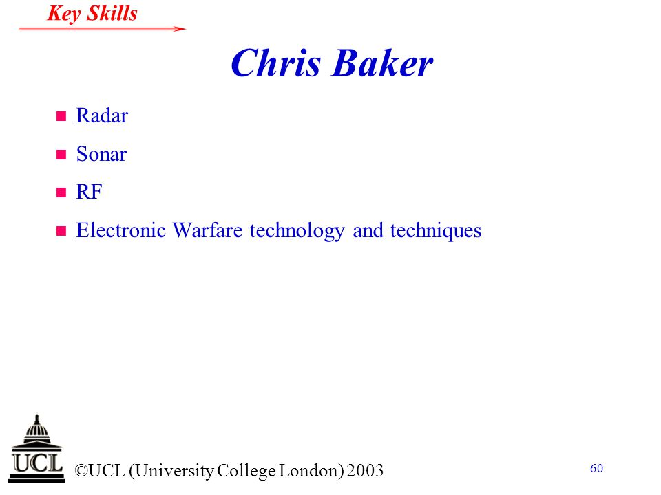 Chris Baker Radar Sonar RF