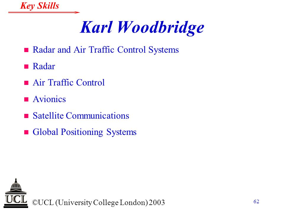 Karl Woodbridge Radar and Air Traffic Control Systems Radar