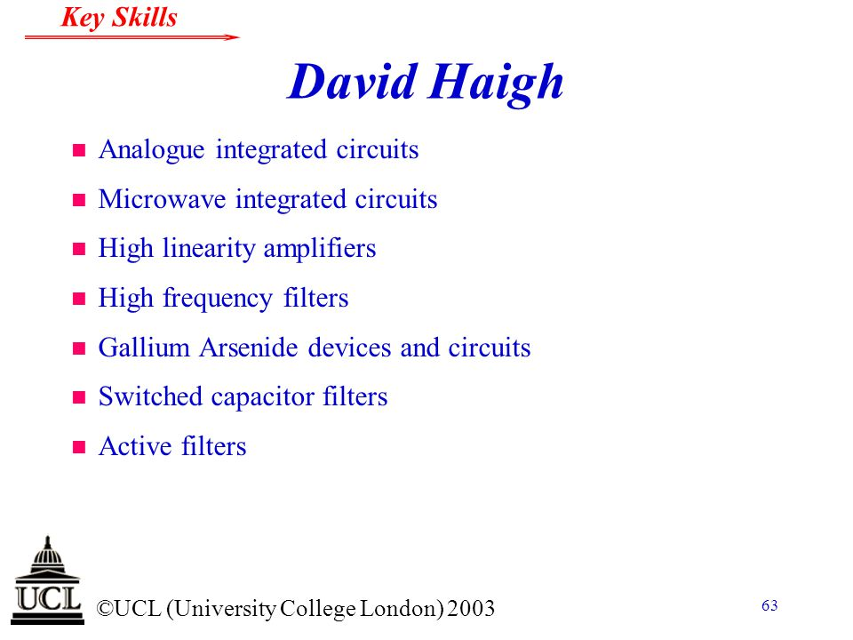 David Haigh Analogue integrated circuits Microwave integrated circuits