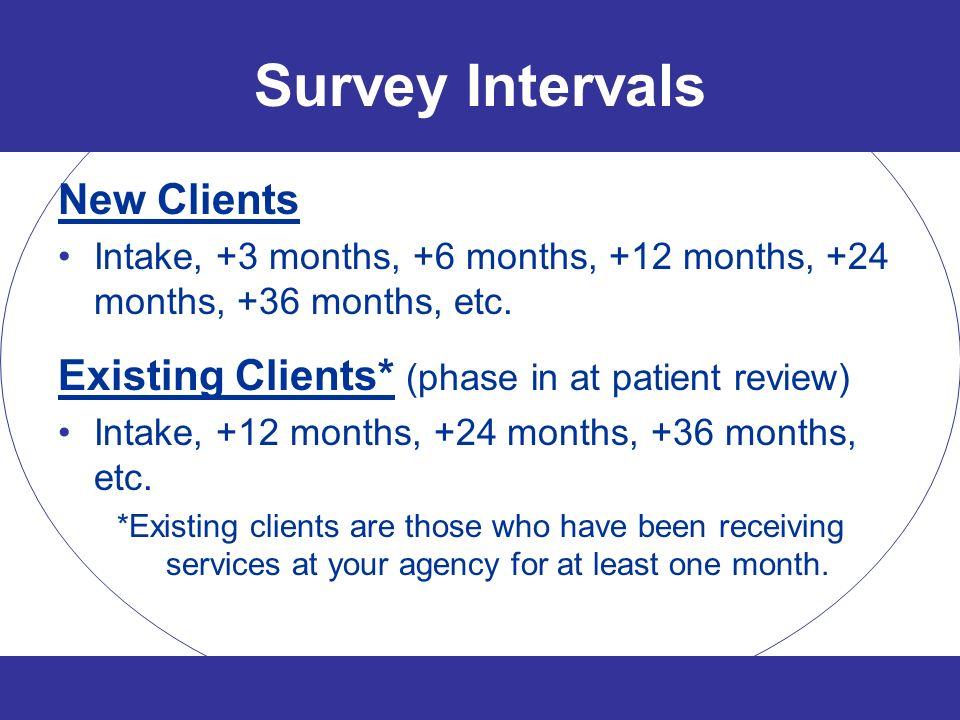 Survey Intervals New Clients