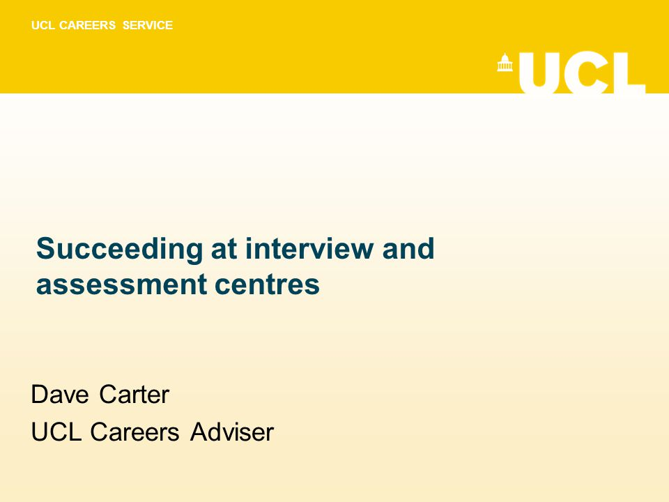 Succeeding at interview and assessment centres