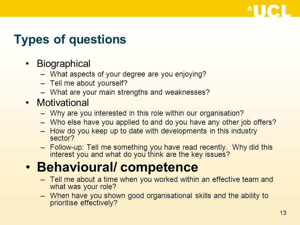 Behavioural/ competence