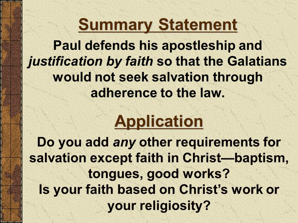 Is your faith based on Christ's work or your religiosity