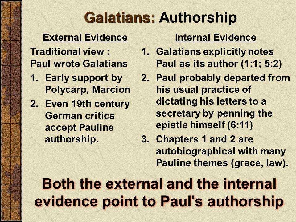 Galatians: Authorship