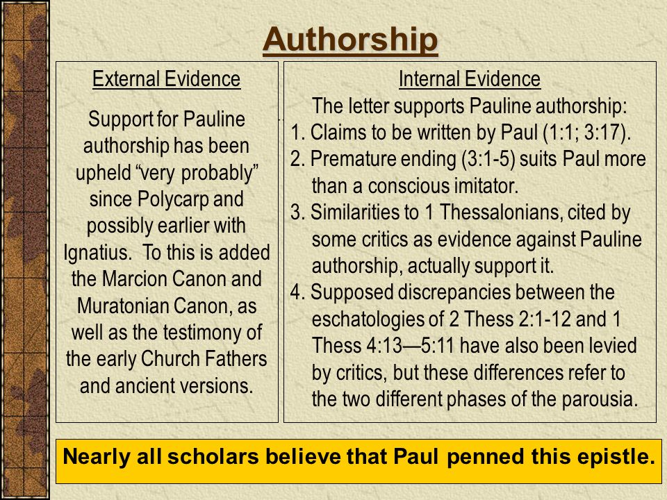 The letter supports Pauline authorship: