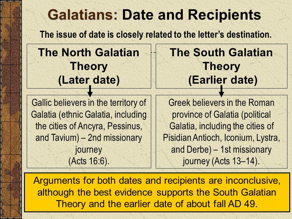 Galatians: Date and Recipients
